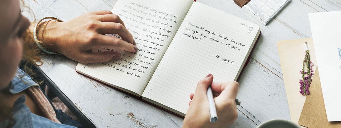 Mit einem Tagebuch kannst dir schöne festhalten