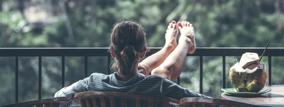 Entspannung auf dem Balkon