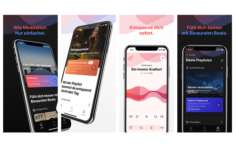 Neue sonamedic App Screenshots