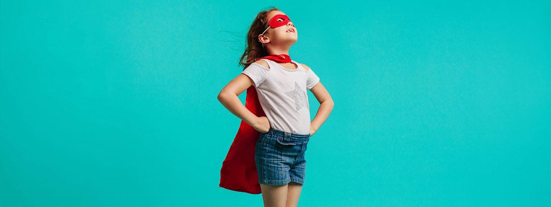 Child, Superhero, Self confidence