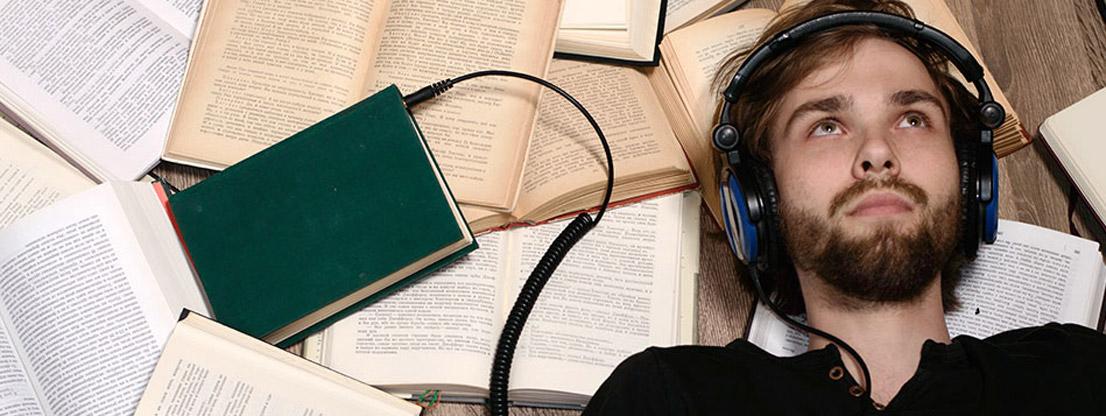 man listening, brainwaves, binaural beat