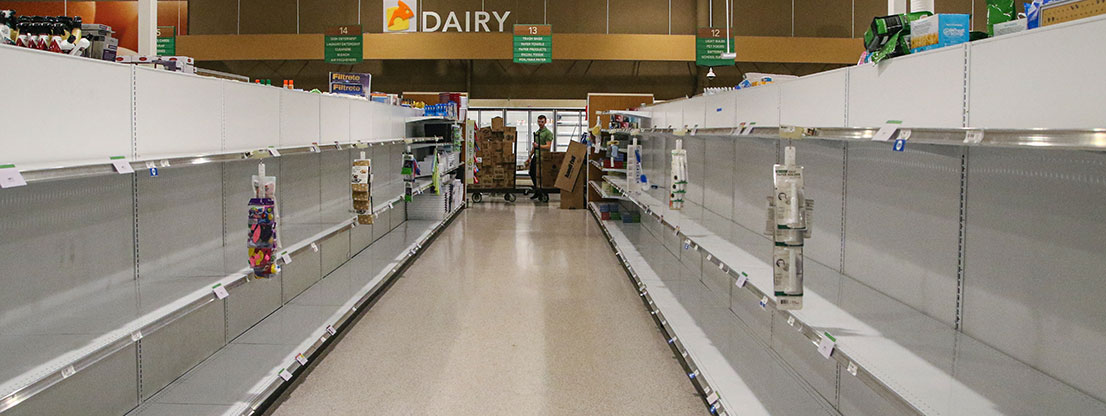 Empty shelves, hoarding purchases in the Corona crisis
