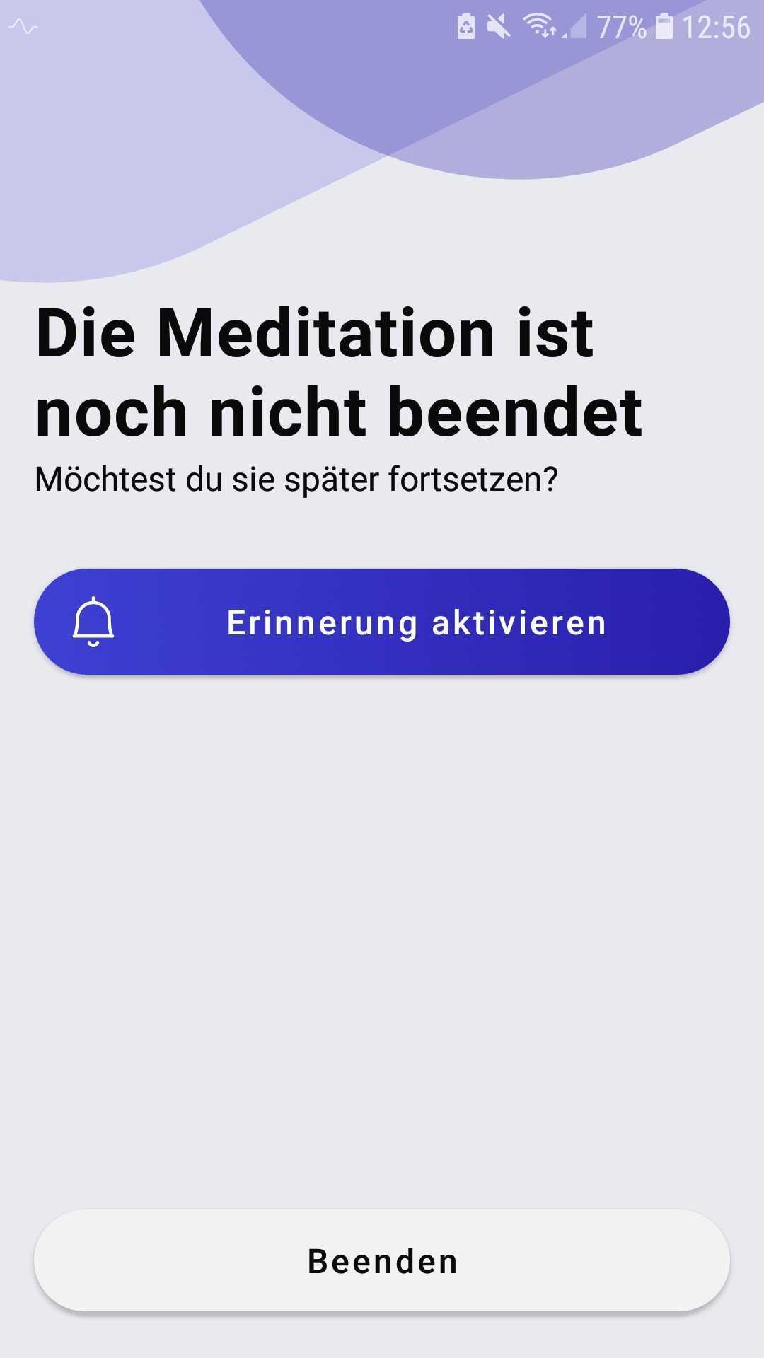 Erinnerungsfunktion sonamedic App
