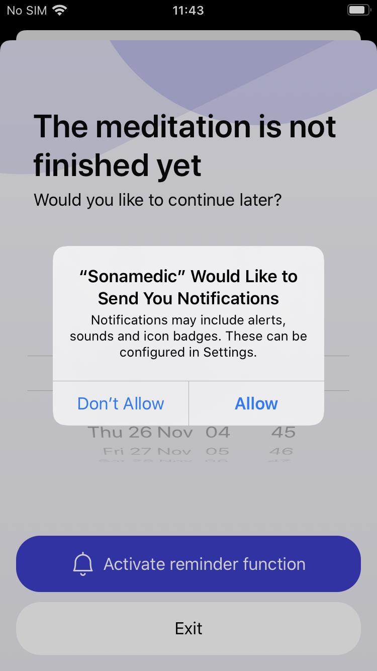 reminder function sonamedic