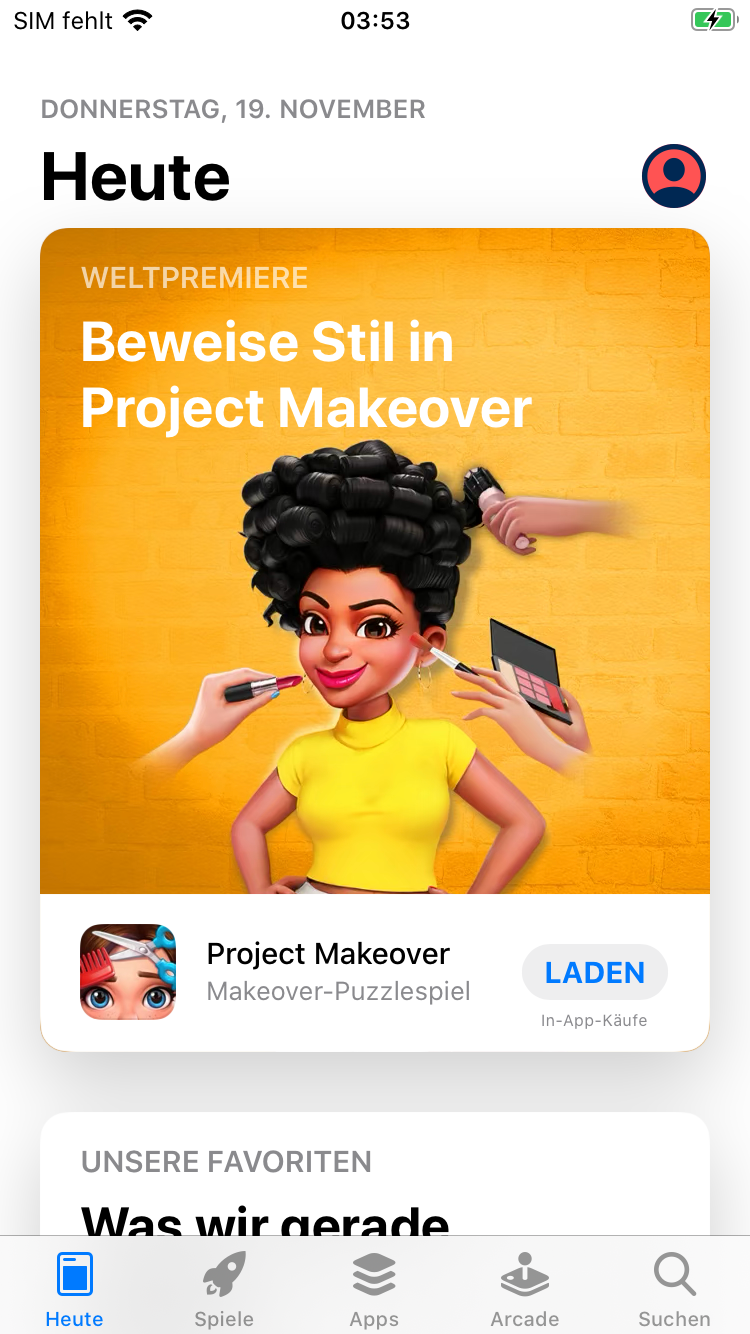 heute Seite Apple App Store