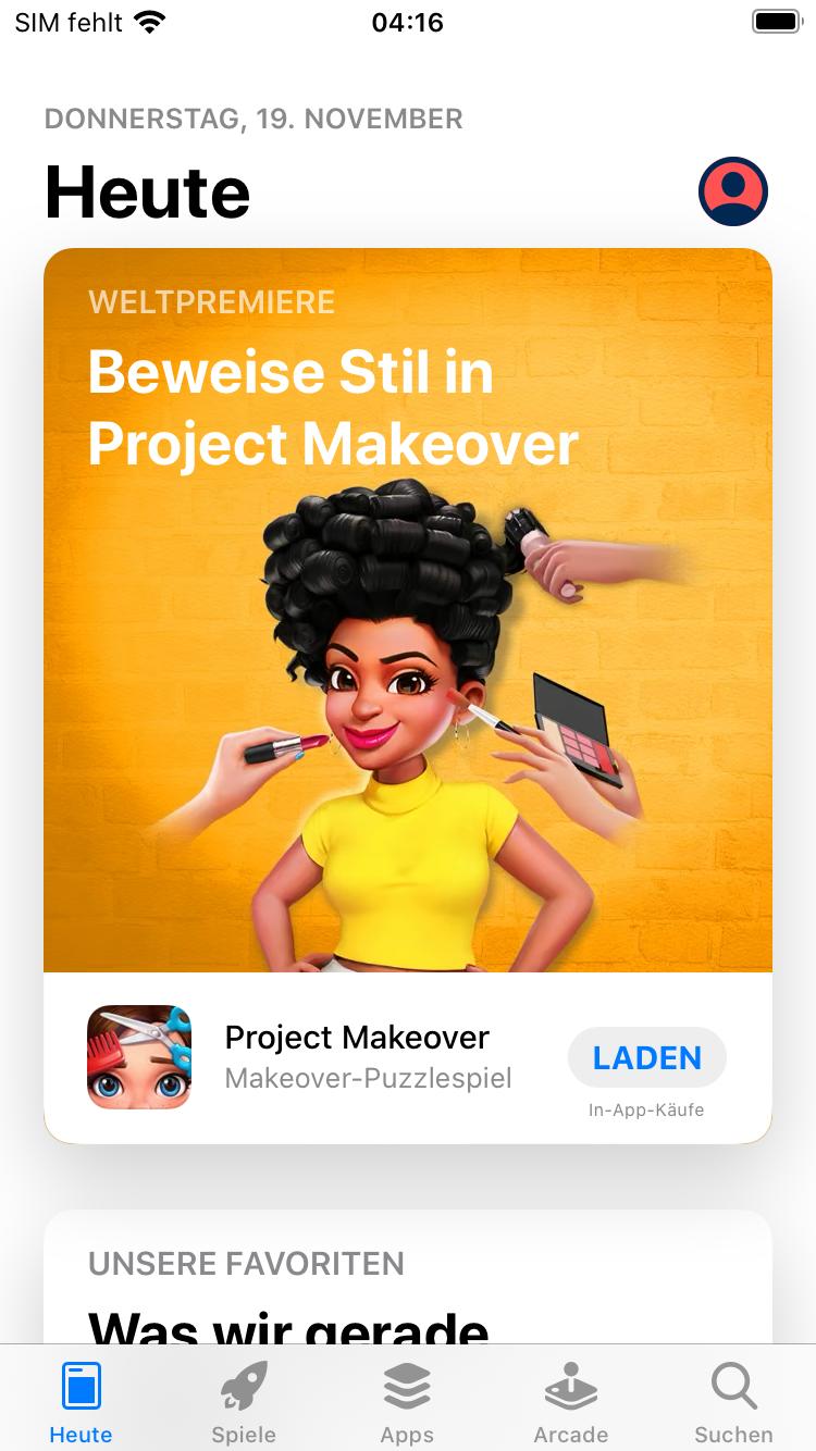 Heute Seite App STore