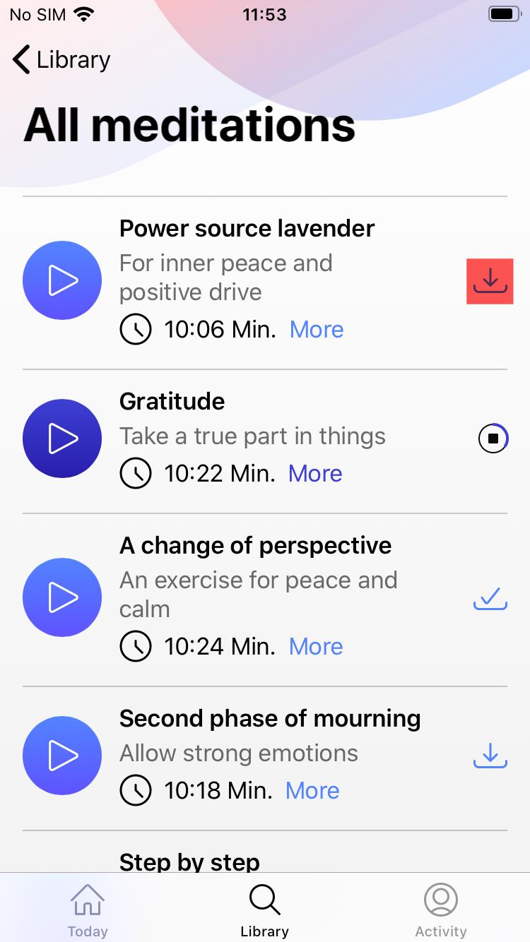 Downloadbutton Meditation