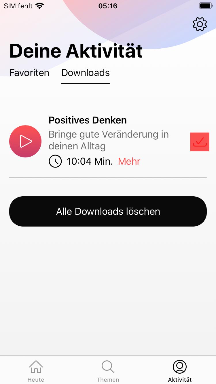 Downloads in der App