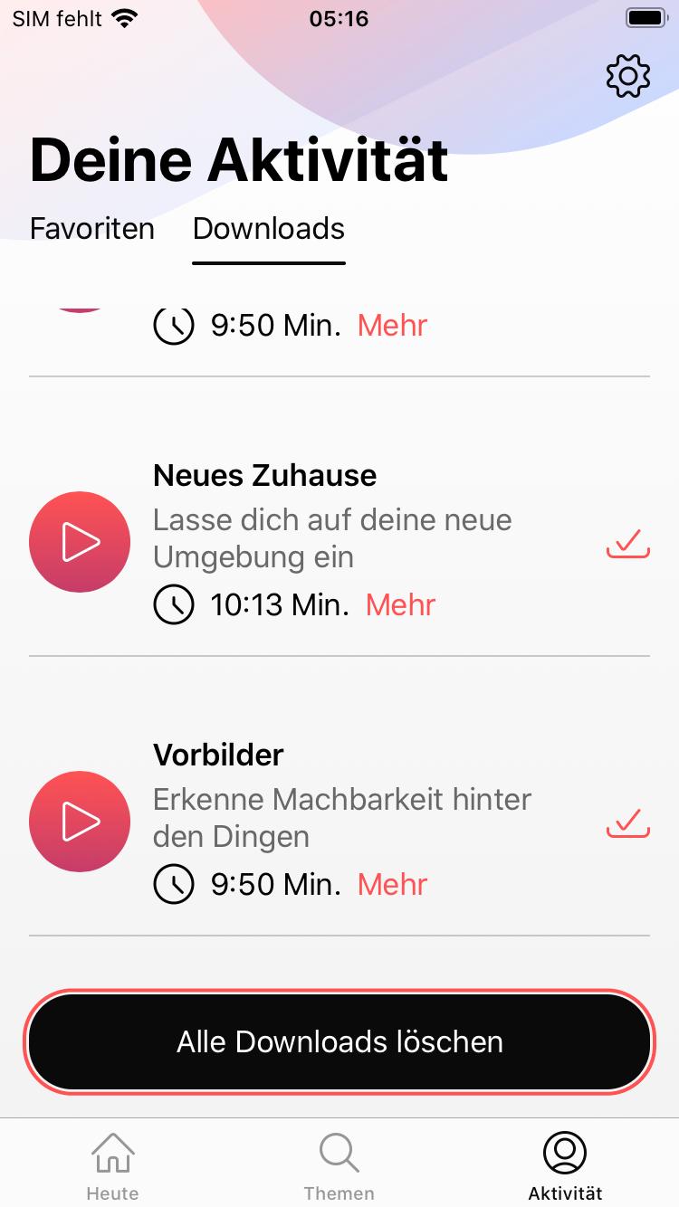 Downloads können vom Handy wieder gelöscht werden