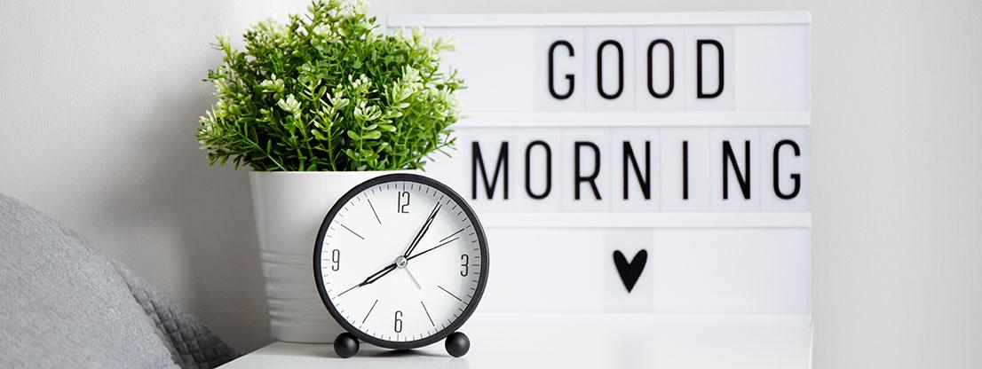 Alarm clock, sleep hygiene aid
