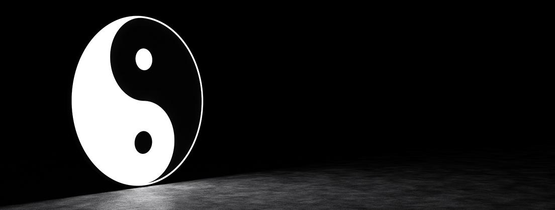 Yin und Yang sind die beiden Pole des Chi oder Qi