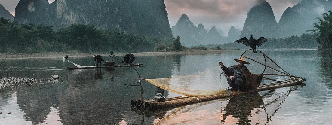 traditioneller chinesischer Fischer, Kultur