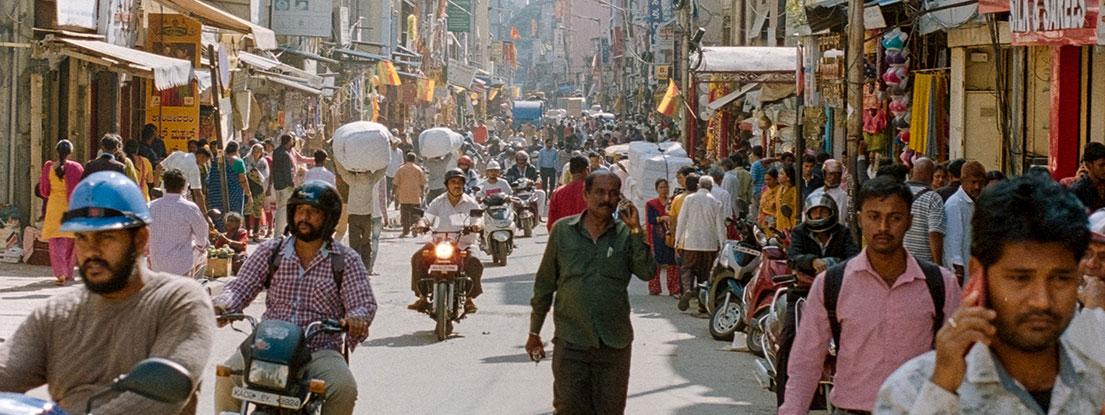 Indien, belebte Straße