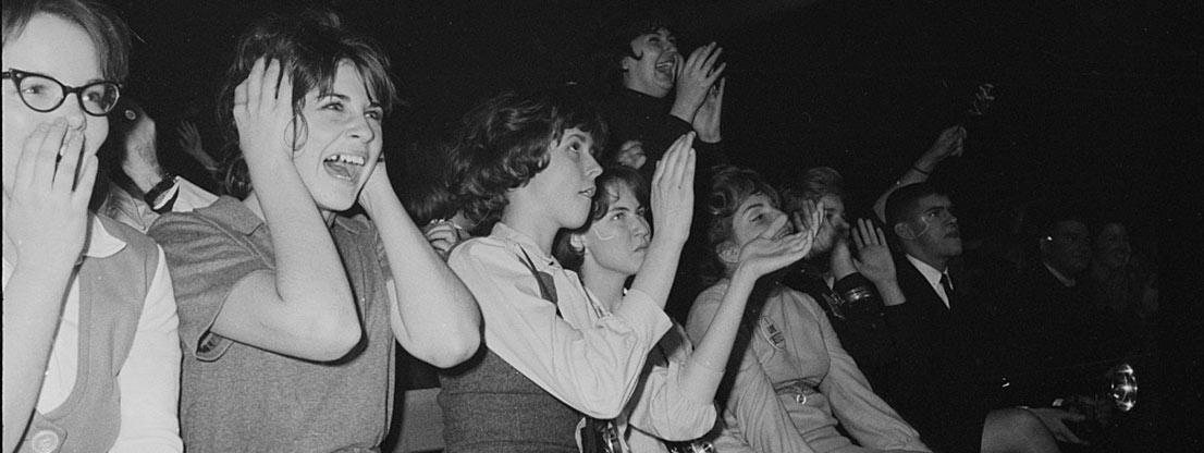 Kreischende Fans, die Beatles