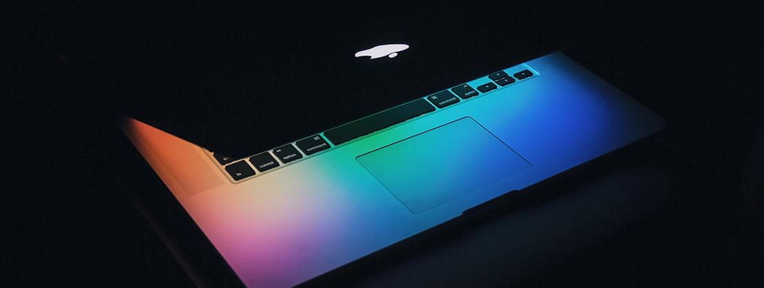 Apple Notebook, reduziertes Design