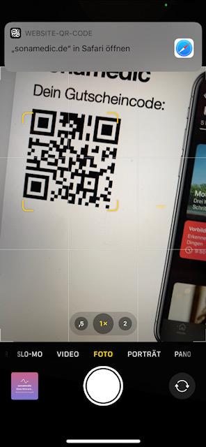 QR Code scannen